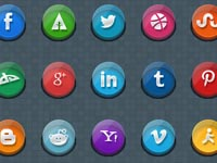 Free Icons: 24 3D Social Media Icons