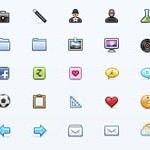 Free Icons: 25 Colored Minicons