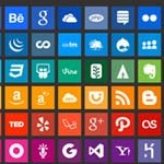 Free Icons: 96 Simple Social Icons
