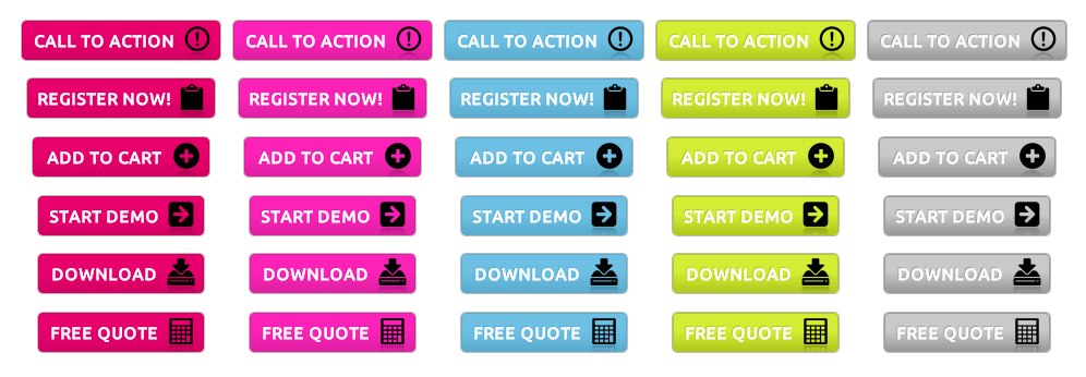 Bold Call-to-Action Buttons - All Buttons