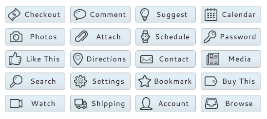 WordPress Buttons Pack - Blue Sky Buttons