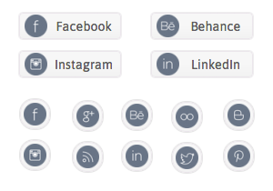 Gray Social Buttons