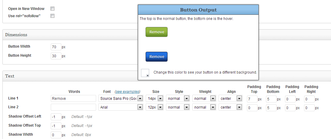 Styling WordPress button