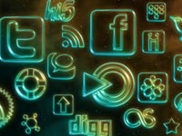 Free Icons: 108 Glowing Neon Social Icons