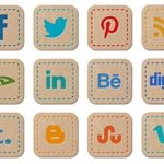 Free Icons: 30 Hand Stitched Social Icons