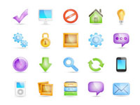 Free Icons: 20 Semi-Transparent Icons