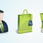 Free Icons: 3 Green 3D Icons