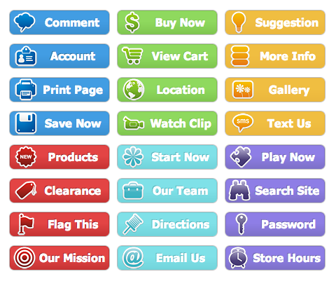 WordPress Buttons Pack - Colored Sticker Buttons