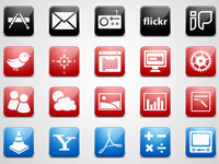 Free Icons: 120 iPhone Style Icons