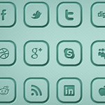 Free Icons: 18 Rounded Social Media Icons
