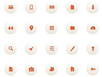 Free Icons: 50 Orange Moonlight Icons