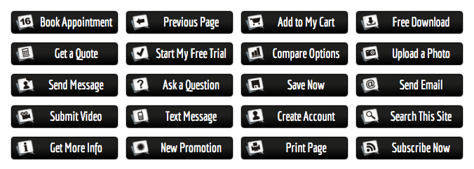 WordPress Buttons Pack - Black Action Buttons