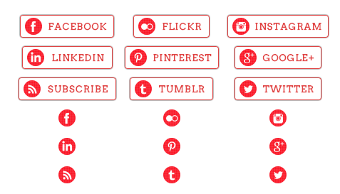 WordPress Buttons Pack - Red Check Social Buttons