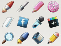 Free Icons: 15 WaterMarker Icons