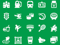 Free Icons: 200 Map Icons