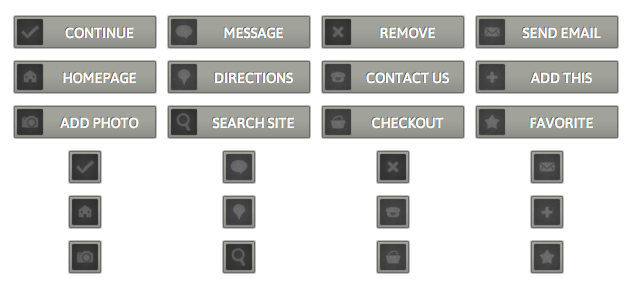 WordPress Buttons Pack - Metal Buttons