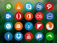 Free Icons: 150 Flat Circle Icons