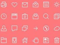 Free Icons: 24 Thin Stroke Icons