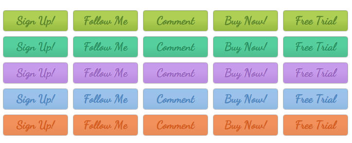 WordPress Buttons Pack - Cursive Commands