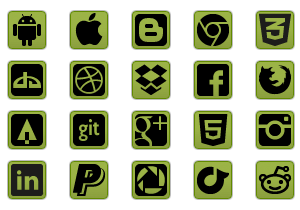 green-social-icon-buttons