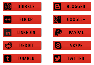 Red Social Buttons