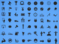 Free Icons: 100 Sports Icons