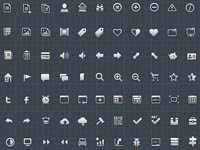 Free Icons: 132 Mini PSD Icons
