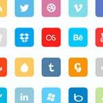 Free Icons: 80 Premium Flat Social Icons
