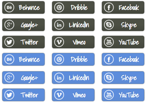 Social Circle Buttons