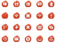 Free Icons: 221 Red Cloud Icons