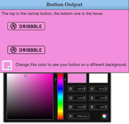 Opaque Buttons so the background of your site color shows through
