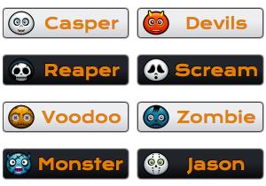 halloween-character-buttons