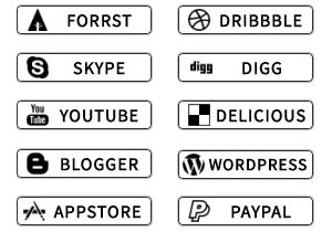 Opaque Social Buttons