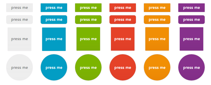 WordPress Buttons Pack - Press Me Flat Buttons