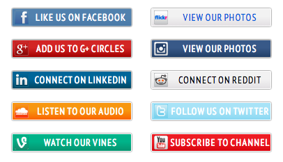 10 Social Media Icon WordPress Buttons