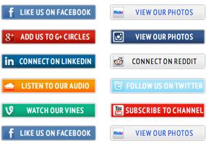 10 Social Media Icon Buttons