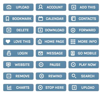 Air Force Blue WordPress Buttons