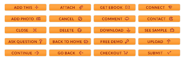 Orange CTA WordPress Buttons