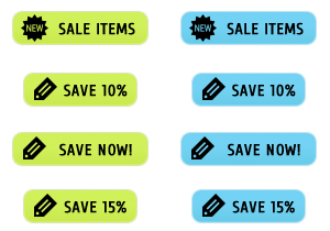 Neon Sale Buttons
