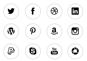 Transparent Round Social WordPress Buttons