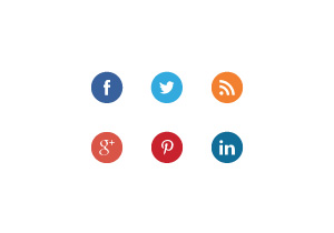 6 Social Media Buttons