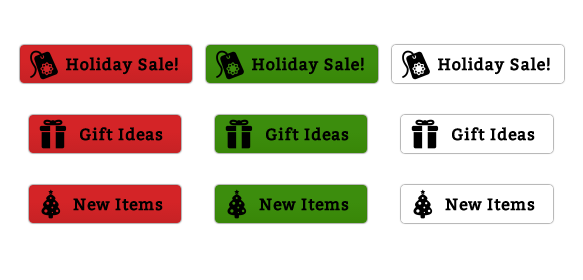 9 Free Holiday Sale Buttons