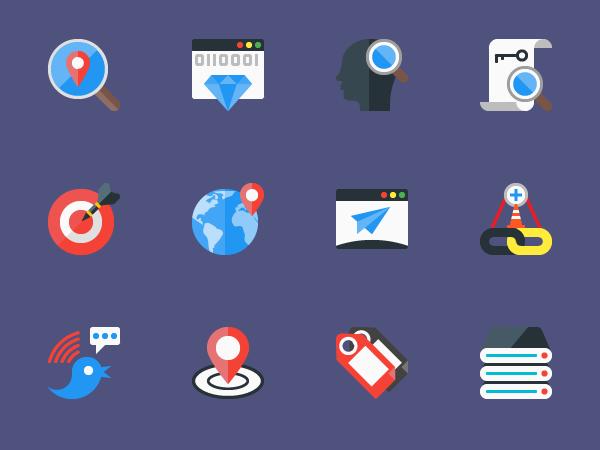 SEO Flat Icons