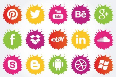 Paint Splatter Social Icons
