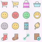 Color Line Icon Set
