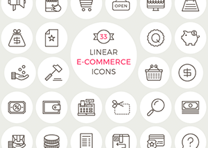 Linear E-Commerce Icons