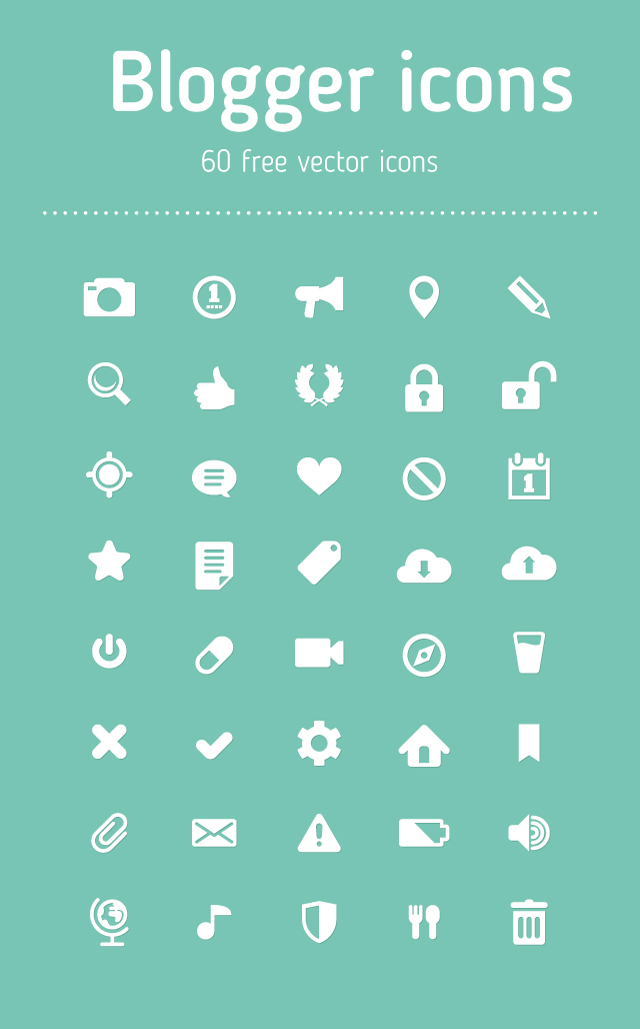 Free Blogger Icon Set