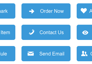 Flat Blue eCommerce Buttons