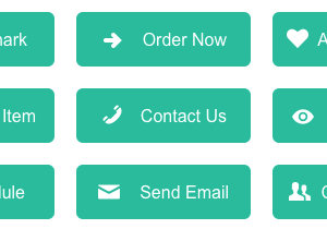 Flat Green eCommerce Buttons
