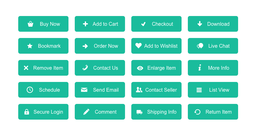 preview-flat-green-ecommerce-buttons